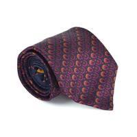 Etro Mens black 100% Silk Geometric Print 3.25 In Standard Tie - M
