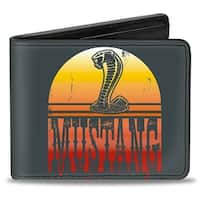 Mustang Cobra Sunset Gray Yellow Red Fade Bi Fold Wallet - One Size Fits most