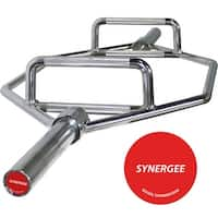 Synergee 25kg Chrome Olympic Hex Barbell with Two Handles for Squats, Deadlifts, Shrugs and Power Pulls