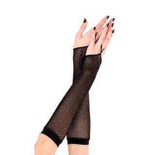 One Finger Fishnet Gloves