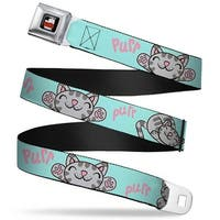 The Big Bang Theory Full Color Black White Red Soft Kitty Poses Pale Seatbelt Belt