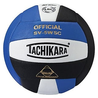 Tachikara SV5WSC Sensi-Tec Composite Volleyball (Blue/White/Black)