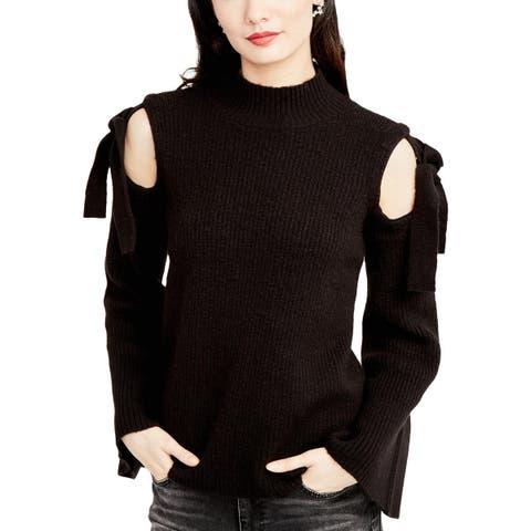 Rachel Rachel Roy Womens Mock Sweater Cold Shoulder Bell Sleeves - XXL