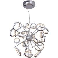 "Craftmade 47126-LED Mira Single Light 28-1/4"" Wide Integrated LED Chandelier - Chrome"