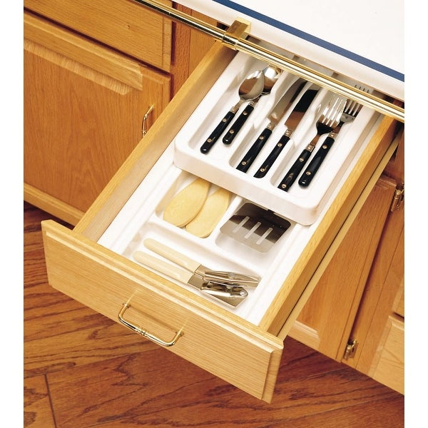 Shop Rev A Shelf Rt10 4h Rt Series 8 75 Wide Half Deep Cutlery Tray