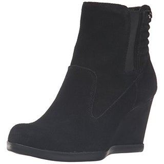 Anne Klein Womens Neither Ankle Boots Suede Wedge