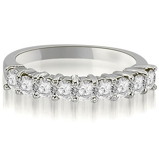 1 30 CT Round Cut Diamond 9 Stone Prong Set Wedding Band In 14KT
