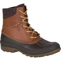 Sperry Top-Sider Men's Cold Bay Duck Boot with Vibram Arctic Grip Tan Waterproof Leather