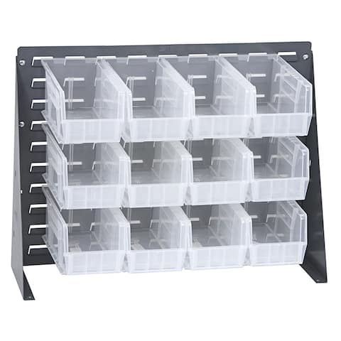 Offex Clear View Steel Bench Rack - Grey