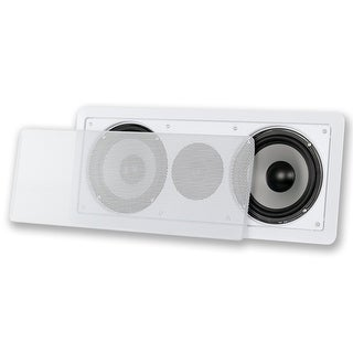 "Acoustic Audio CSiw26cc In-Wall Dual 6.5"" Center Channel Speaker Home Theater"