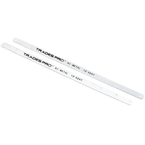 TradesPro 2Pc Bi-Metal Hacksaw Blades - 831415