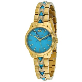 Link to Michael Kors Women's MK6673 Runway Mercer Gold and Blue Stainless Steel Watch - One Size Similar Items in Men's Watches
