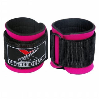 Weight Lifting Wrist WrapsTraining Straps Hook-and-Loop Fastener Locked with Hook W1-P - Pink