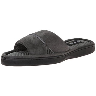 Gold Toe Mens Lined Slide Mule Slippers