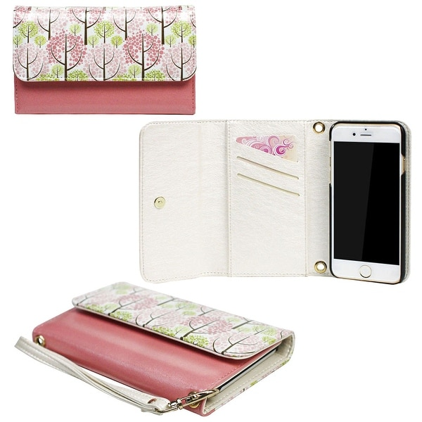 JAVOedge Pastel Forest Clutch Wallet Case with Matching Wristlet for iPhone 6 Plus (5.5 inch)
