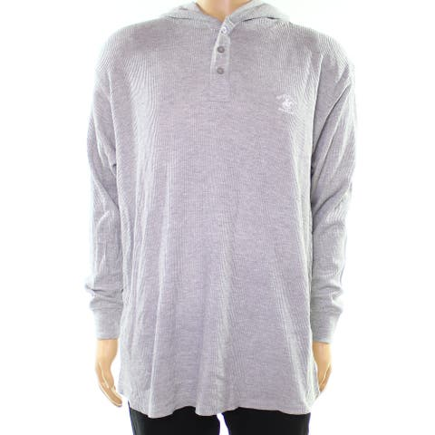 Beverly Hills Polo Club Gray Mens Size Medium M Hooded Sweater