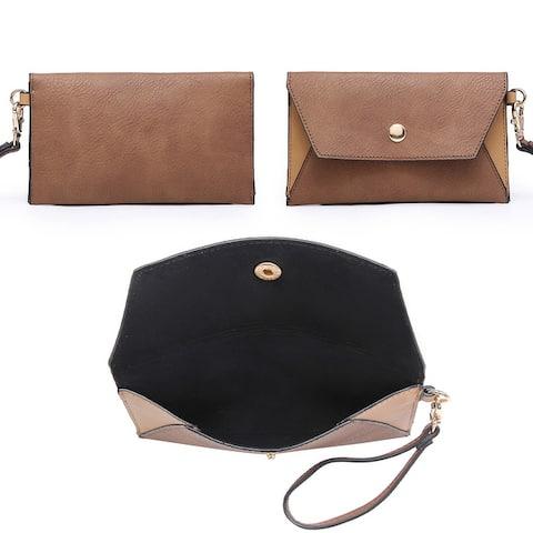Dasein Fashion Large Tote Handbag with Wristlet