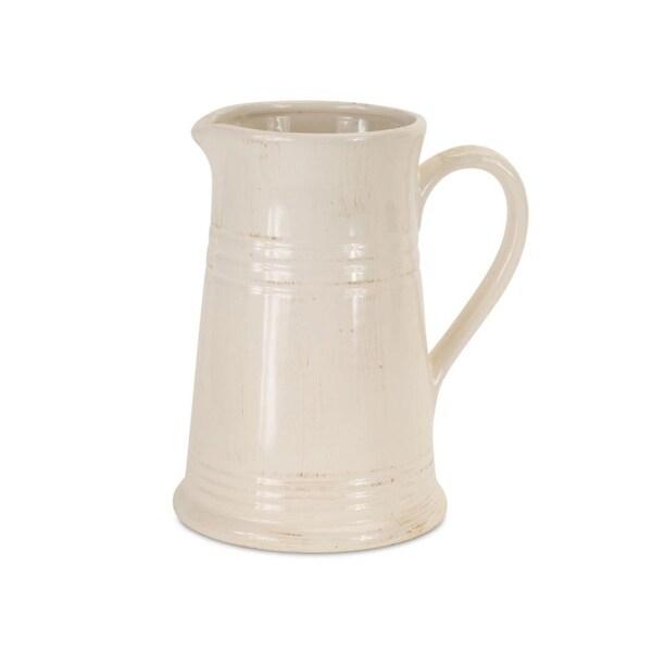 Shop Set Of 40 Rustic Off White Decorative Ceramic Pitcher 40 Free New Decorative Ceramic Pitchers