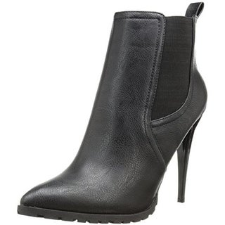 C Label Womens Sharan Chelsea Boots Faux Leather Stiletto