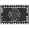 Handmade 100% Cotton Celtic Wheel of Life Tapestry Bedspread Twin 70x104 and Full 88x104 in Black Tan & Black Purple colors - Thumbnail 1