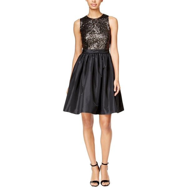 Shop Calvin Klein Womens Semi Formal Dress Sequined Fit