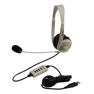 Califone 3064-USB Multimedia Stereo Headset with Microphone and USB Connection