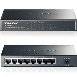 Tp-Link Tl-Sg1008p 8-Port Gigabit Ethernet Poe Desktop Switch With 55W 4-Poe Ports
