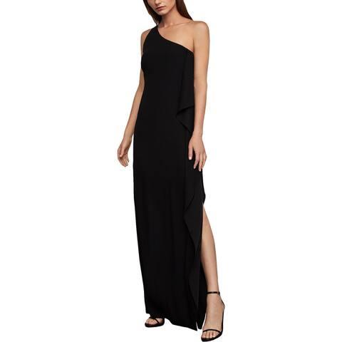 BCBG Max Azria Womens Formal Dress Sequined Ruffled - Black