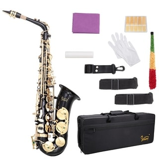 Link to Glarry Alto Saxophone E-Flat Alto SAX Eb with 11reeds, case,carekit Similar Items in Woodwind Instruments