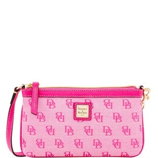 Dooney & Bourke Madison Signature Large Slim Wristlet (Introduced by Dooney & Bourke at $78 in Jun 2016) - Fuchsia