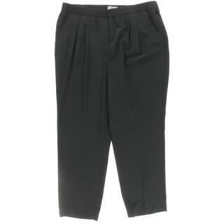 Calvin Klein Womens Plus Casual Pants Straight Leg Pleated
