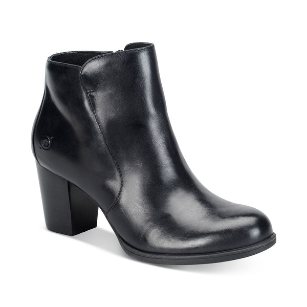 Born Womens Alter Leather Almond Toe Ankle Fashion Boots