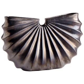 "Cyan Design 09060  Laureate 19"" Wide Ceramic Vase - Bronze"