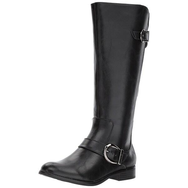 LifeStride Womens rosaria-wc trnd zeus Almond Toe Mid-Calf Fashion Boots