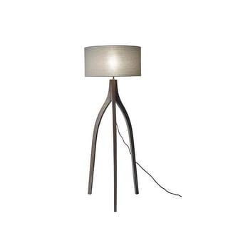 "Adesso 3838 Sherwood 1 Light 71.5"" Tall Tripod Floor Lamp with Fabric Shade - pine wood"