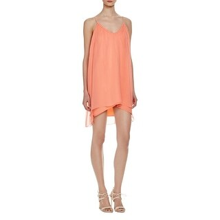 Elizabeth and James Womens Malie Cocktail Dress Silk Ruched