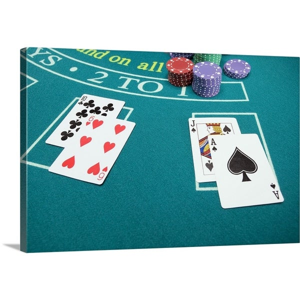 "Shop ""Cards And Chips On Betting Table"" Canvas Wall Art"