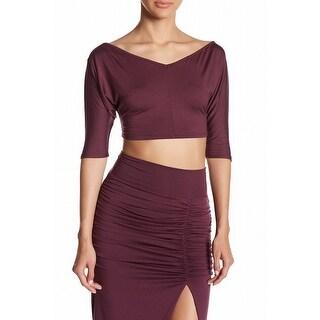 Rachel Pally NEW Purple Cropped Women's Size Small S Stretch Blouse