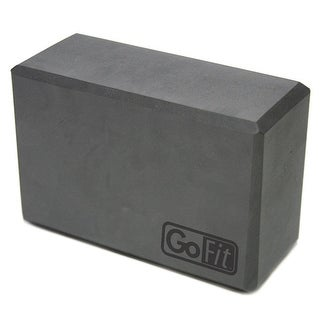"GoFit Foam Yoga Block (9"" x 6"" x 4"") - Gray"