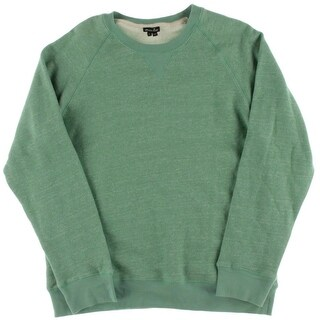 Steven Alan Mens Raglan Sleeves Melange Sweatshirt - L