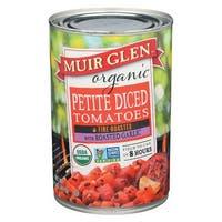 Muir Glen Diced Tomatoes Roasted Garlic - Tomato - Case of 12 - 14.5 oz.