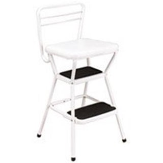 Cosco Products 11130WHT White Chair & Step Stool