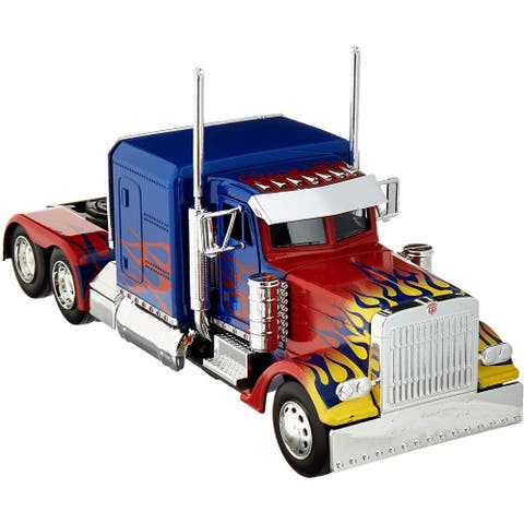 Transformers Movie Optimus Prime Truck 1:24 Die Cast Vehicle - Red