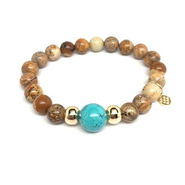 """Brown Jasper Pride 7"""" Bracelet"""