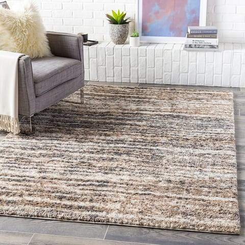 Sabbie Plush Heathered Stripe Area Rug