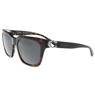 Coach HC8240 550787 Dark Tortoise Square Sunglasses - 52-21-140