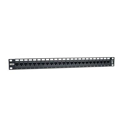 Tripp Lite 24-Port 1U Rackmount Cat6 110 Patch Panel 568B, Rj45 Ethernet(N252-024)