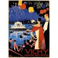 ''Vichy'' by Roger Broders Vintage Advertising Art Print (34.5 x 25 in.)