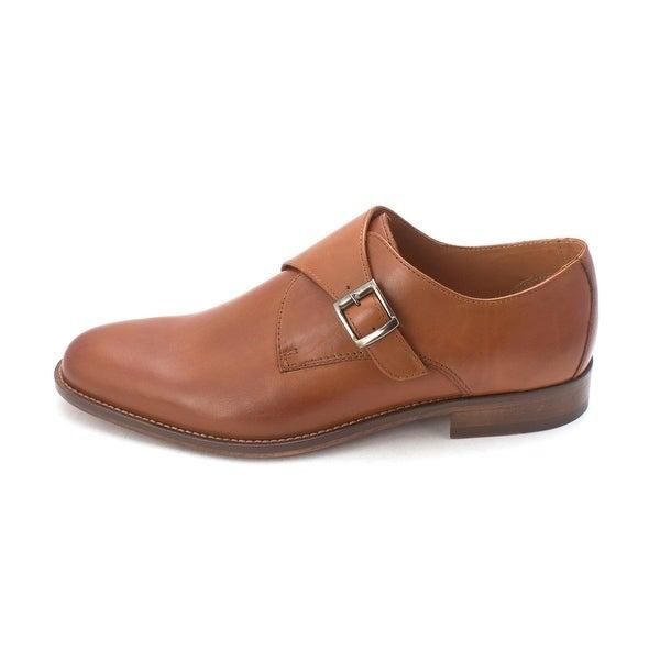 Tasso Elba Mens Lucca Leather Buckle Dress Oxfords