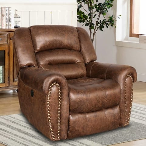 Breathable Bonded Leather Electric Power Recliner